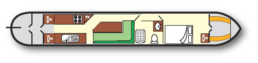 Aurora Narrowboat plan