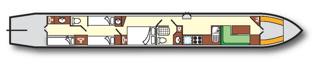 Rumba Narrowboat plan