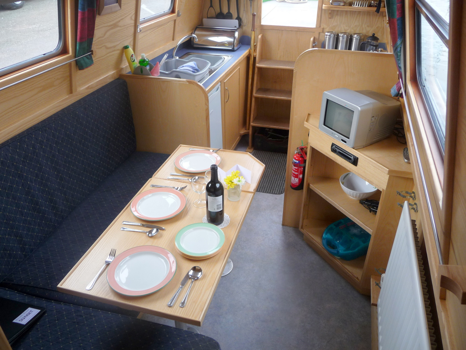 Sunset Dining to Galley