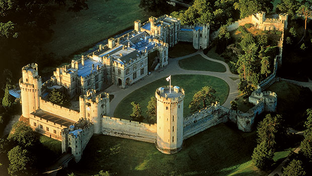 Warwick Castle Aerial-View