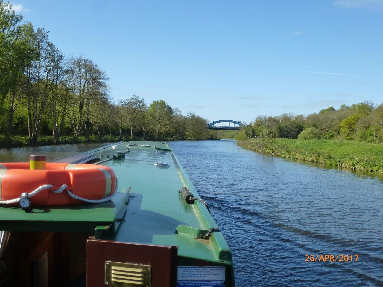 River Weaver approaching Northwich bypass bridge